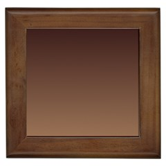 Seal Brown To Chamoisee Gradient Framed Ceramic Tile