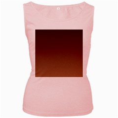 Seal Brown To Chamoisee Gradient Womens  Tank Top (Pink)