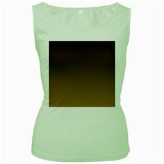 Seal Brown To Chamoisee Gradient Womens  Tank Top (Green)