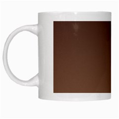 Seal Brown To Chamoisee Gradient White Coffee Mug