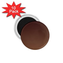 Seal Brown To Chamoisee Gradient 1.75  Button Magnet (10 pack)
