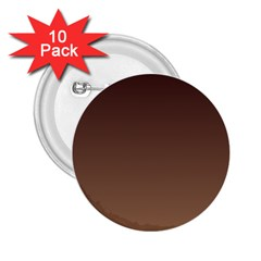 Seal Brown To Chamoisee Gradient 2.25  Button (10 pack)