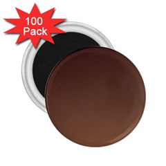 Seal Brown To Chamoisee Gradient 2 25  Button Magnet (100 Pack)