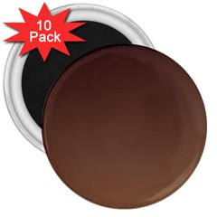Seal Brown To Chamoisee Gradient 3  Button Magnet (10 pack)