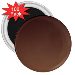 Seal Brown To Chamoisee Gradient 3  Button Magnet (100 pack)