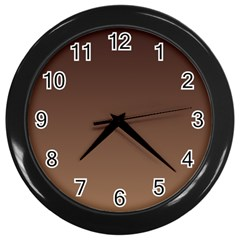 Seal Brown To Chamoisee Gradient Wall Clock (black)