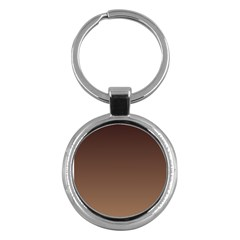 Seal Brown To Chamoisee Gradient Key Chain (Round)