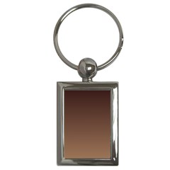 Seal Brown To Chamoisee Gradient Key Chain (Rectangle)