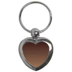 Seal Brown To Chamoisee Gradient Key Chain (heart)