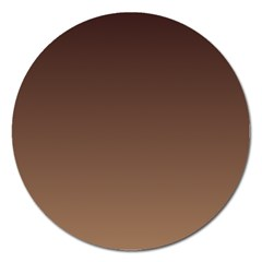 Seal Brown To Chamoisee Gradient Magnet 5  (round)