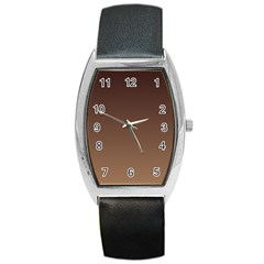 Seal Brown To Chamoisee Gradient Tonneau Leather Watch