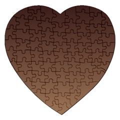 Seal Brown To Chamoisee Gradient Jigsaw Puzzle (heart)