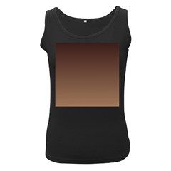 Seal Brown To Chamoisee Gradient Womens  Tank Top (black)