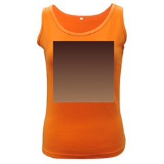 Seal Brown To Chamoisee Gradient Womens  Tank Top (Dark Colored)