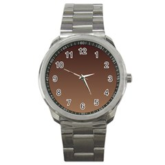 Seal Brown To Chamoisee Gradient Sport Metal Watch
