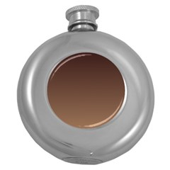 Seal Brown To Chamoisee Gradient Hip Flask (Round)
