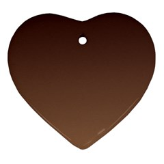 Seal Brown To Chamoisee Gradient Heart Ornament (two Sides)