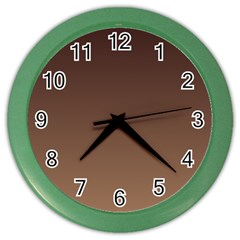 Seal Brown To Chamoisee Gradient Wall Clock (color)