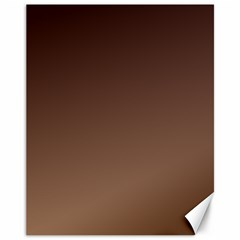 Seal Brown To Chamoisee Gradient Canvas 11  x 14  (Unframed)