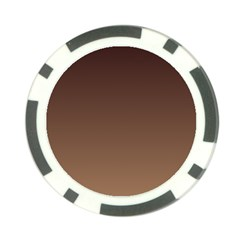 Seal Brown To Chamoisee Gradient Poker Chip