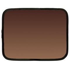 Seal Brown To Chamoisee Gradient Netbook Case (Large)