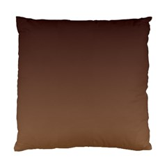 Seal Brown To Chamoisee Gradient Cushion Case (One Side)