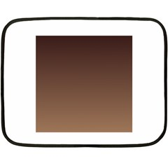 Seal Brown To Chamoisee Gradient Mini Fleece Blanket (Two-sided)