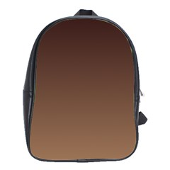 Seal Brown To Chamoisee Gradient School Bag (Large)