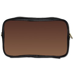 Seal Brown To Chamoisee Gradient Travel Toiletry Bag (One Side)
