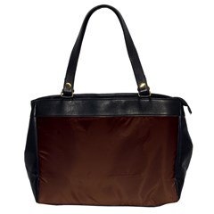 Seal Brown To Chamoisee Gradient Oversize Office Handbag (One Side)