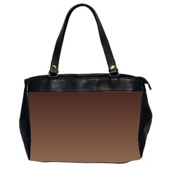 Seal Brown To Chamoisee Gradient Oversize Office Handbag (Two Sides)