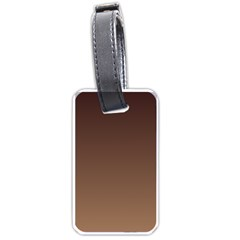Seal Brown To Chamoisee Gradient Luggage Tag (Two Sides)
