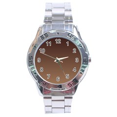 Seal Brown To Chamoisee Gradient Stainless Steel Watch (Men s)