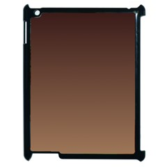 Seal Brown To Chamoisee Gradient Apple iPad 2 Case (Black)