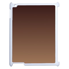Seal Brown To Chamoisee Gradient Apple Ipad 2 Case (white)