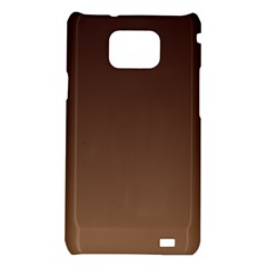 Seal Brown To Chamoisee Gradient Samsung Galaxy S II i9100 Hardshell Case