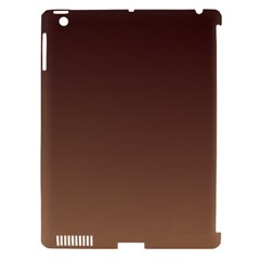 Seal Brown To Chamoisee Gradient Apple Ipad 3/4 Hardshell Case (compatible With Smart Cover)