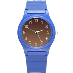 Seal Brown To Chamoisee Gradient Plastic Sport Watch (Small)