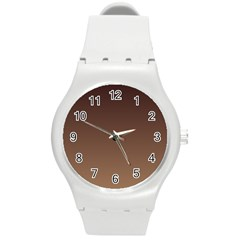 Seal Brown To Chamoisee Gradient Plastic Sport Watch (Medium)