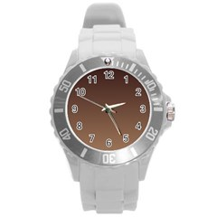 Seal Brown To Chamoisee Gradient Plastic Sport Watch (Large)