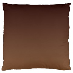 Seal Brown To Chamoisee Gradient Large Cushion Case (One Side)