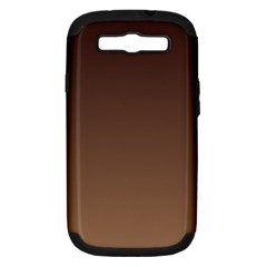 Seal Brown To Chamoisee Gradient Samsung Galaxy S III Hardshell Case (PC+Silicone)