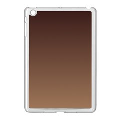 Seal Brown To Chamoisee Gradient Apple Ipad Mini Case (white)