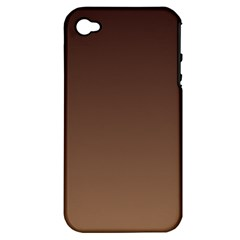 Seal Brown To Chamoisee Gradient Apple iPhone 4/4S Hardshell Case (PC+Silicone)