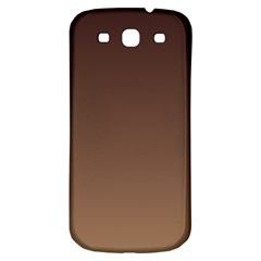 Seal Brown To Chamoisee Gradient Samsung Galaxy S3 S III Classic Hardshell Back Case