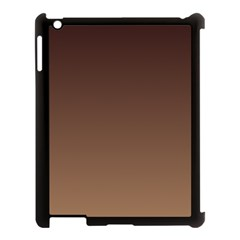 Seal Brown To Chamoisee Gradient Apple iPad 3/4 Case (Black)