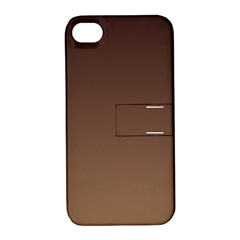 Seal Brown To Chamoisee Gradient Apple iPhone 4/4S Hardshell Case with Stand