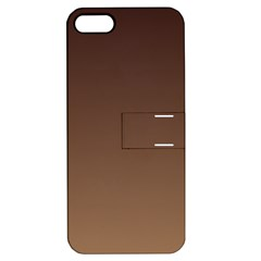 Seal Brown To Chamoisee Gradient Apple Iphone 5 Hardshell Case With Stand
