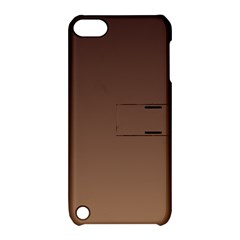 Seal Brown To Chamoisee Gradient Apple iPod Touch 5 Hardshell Case with Stand