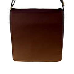 Seal Brown To Chamoisee Gradient Flap Closure Messenger Bag (Large)